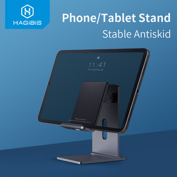 Hagibis Mobile Phone Holder Stand Tablet stand Foldable Cell Phone Portable Desk Aluminum Adjustable Holder for iPhone iPad Pro