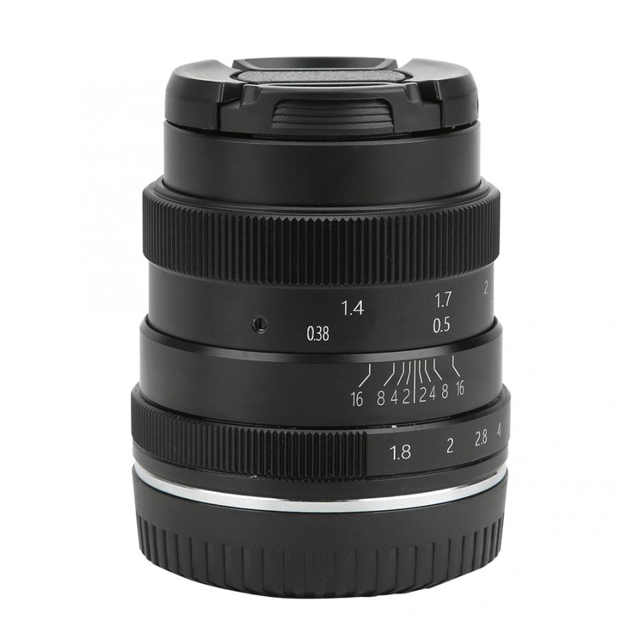 50 мм F1.8 с плоскими стеклами и половинной рамкой портрет фиксированный фокусный объектив EF-M & amp для EOSM крепление для Canon M2 M3 M5 M6 M10 M100 M50 беззерк...