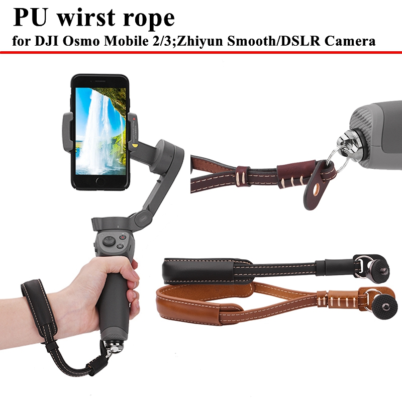 Adjustable-Lanyard-PU-Leather-Strap-with-Base-for-DJI-Osmo-Mobile-3-Handheld-Gimbal-Accessories-Safety