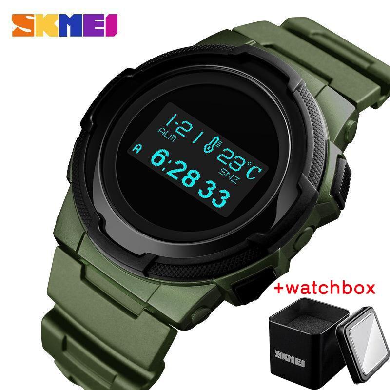 SKMEI Men Digital Watch Multifunction Campass Sport Wristwatch Calorie Calculation Alarm Clock Compass Mens Watches Montre Homme