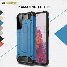 Für Samsung Galaxy S21 Fall Schwere Harte PC Rüstung Gummi Silikon Telefon Rüstung Fall Für Galaxy S21 Plus Abdeckung Für galaxy S21 Ultra