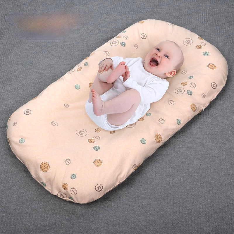 Baby Cribs Sleep Bed with Pillow Portable Crib Travel Bed Infant Toddler Cotton Cradle for Newborn Bassinet Bumper Mattresses