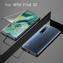 Double Sided Tempered Glass Skin for OPPO Find X2 Pro Case Magnetic Adsorption Cases Cover OPPO FindX2 Find X2Pro Metal Bumper
