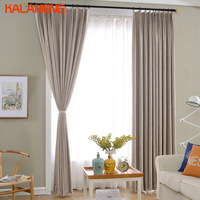 Simple Cotton Curtain Fabrics Panel For Balcony Contemporary Curtain Grommet Window Black Out Curtains For Salon AXY8212 4