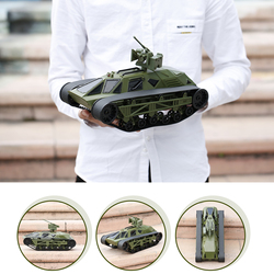 2.4G 1/12 FC166 RC Tank Remote Control Battle Tank Chassis All Terrain Tank Vehicle 360° Rolling Flip Decoration Gift RC Toys