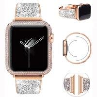 Strap Für Apple Uhr band 42mm 44mm 38mm 40mm Serie 6 se 5 4 3 2 frau schleife Edelstahl Ersatz Armband Für iWatch 4