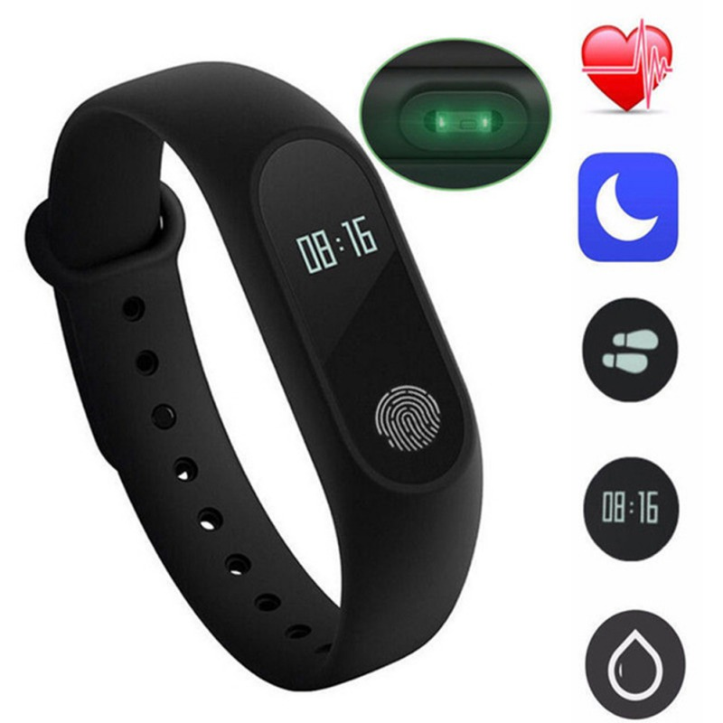 Smart Health Bracelet M2 Heart Rate Bracelet Life-Waterproof Sport Fitness Band Step Count Message Smart Bracelet