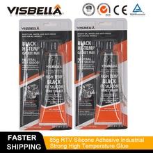 цена на Visbella Satandard A Quality Acetoxy RTV Gasket Maker Grey 85g 2 PC Lot Grey High Temperature Silicone gasket maker Fast Glue