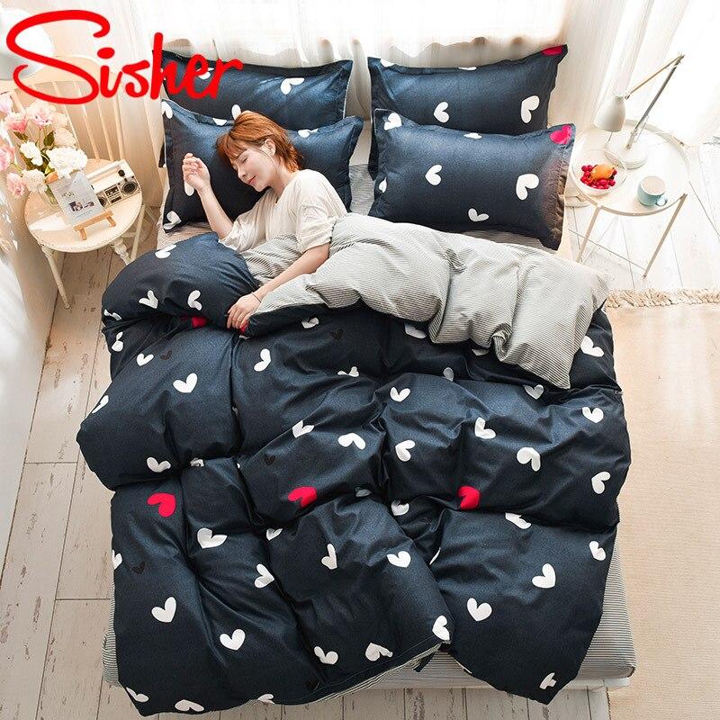 Комплект постельного белья в клетку, с рисунком, 220x240