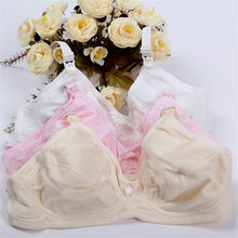 Liva Girl Breastfeeding Maternity Bra Plus Size Nursing Seamless Bra Cup C Cotton Lingerie Wire Free Bras for Women(China)