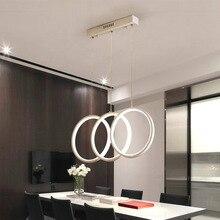 Modern Pendant Light Simple Design Rings LED Lighting Fixture Hanging Lights Remote Dimmable Dining Room Light AC100-240V стоимость