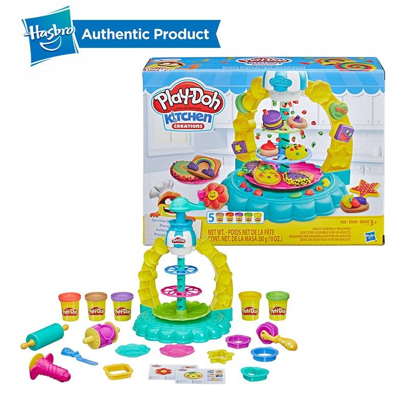 Hasbro play-doh cuisine créations saupoudrer Cookie Surprise jouer nourriture ensemble jouer Doh Non toxique pâte à modeler éducatifs bricolage jouets
