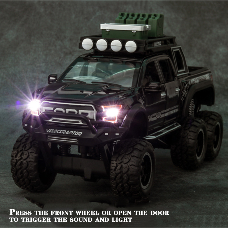 Ford F150 Raptor Pickup Truck Model Car with Sound and Lights 10