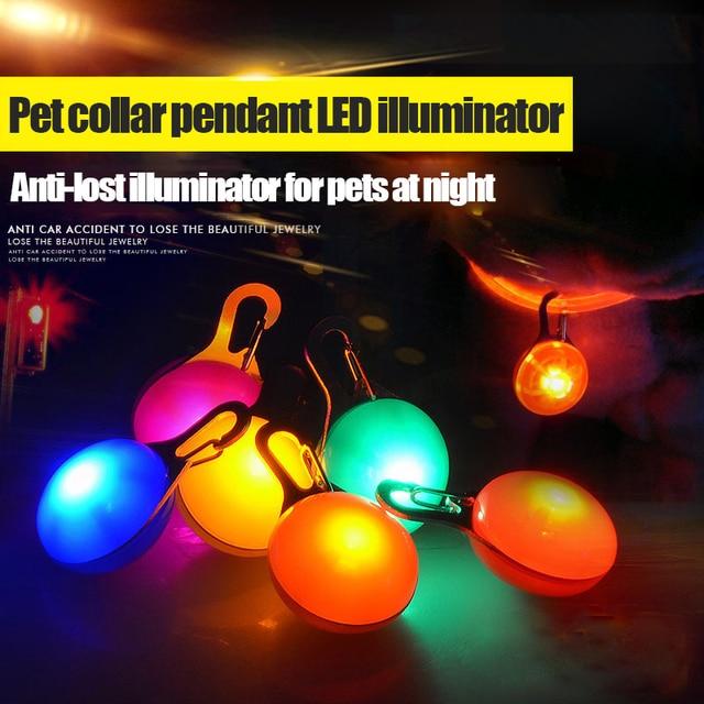 Glowing Pet Pendant LED Dog Collar Lighting For Night Safety  2
