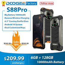 DOOGEE هاتف ذكي ، S88 Pro ، 6 جيجابايت ، 10000 جيجابايت ، 6.3 بوصة ، FHD ، IP68/IP69K ، هاتف ذكي ، متين ، Android 10 ، Helio P70 ، ثماني النواة ، 128 مللي أمبير