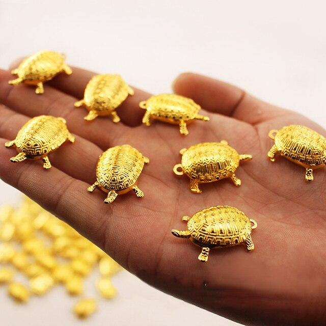 Feng Shui złote pieniądze żółw przynoszące szczęście bogactwo dekoracja biurowa ozdoby stołowe prezent przynoszący szczęście