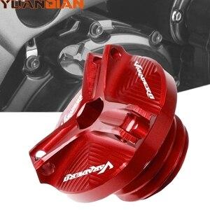 Аксессуары для мотоциклов, крышка с вилкой для автомобильного масла для Honda XL1000 XL1000V VARADERO M20 * 25 Motorcoss CNC, алюминиевая крышка для наполнителя ма...