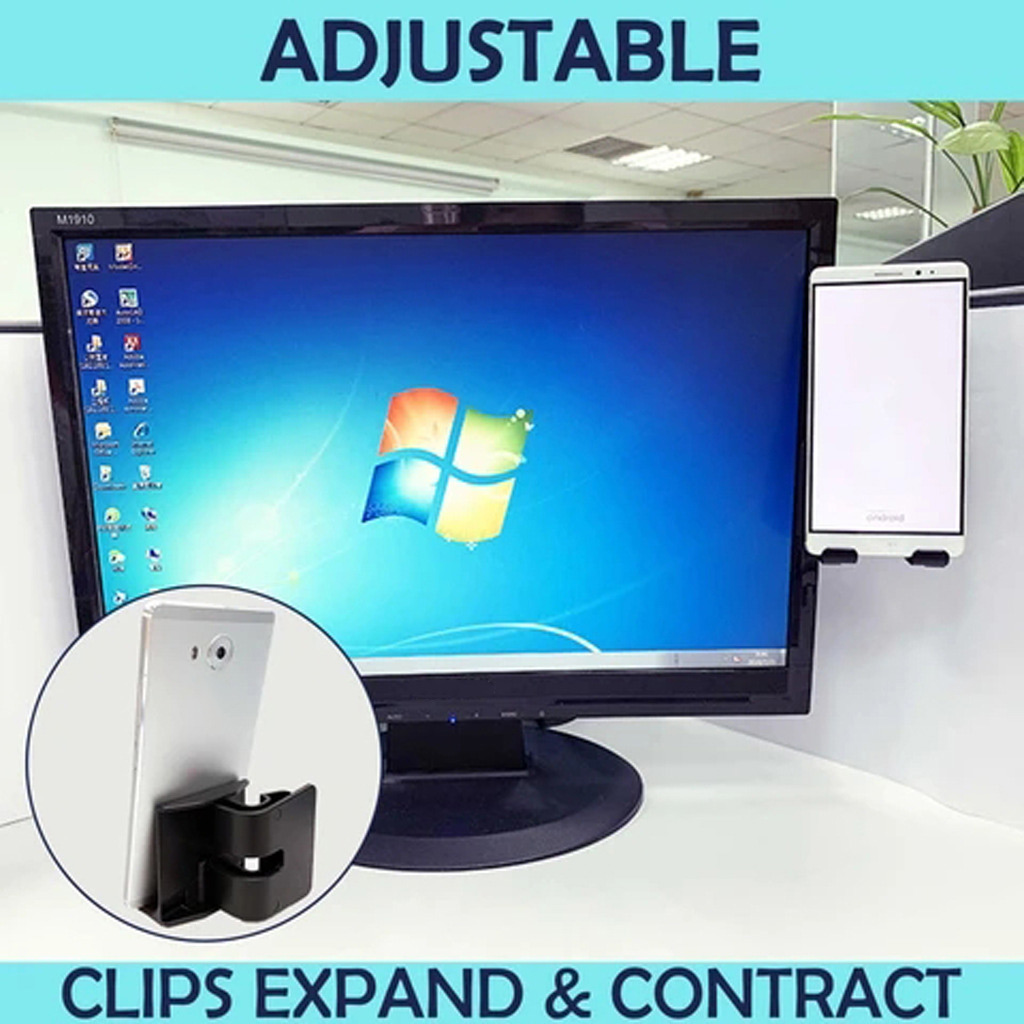 New Hot Tablet Screen Side Phone Holder Clip For Laptop Notebook Or Desktop Monitor