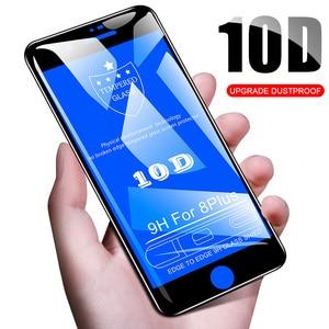 Image 2 - 50 قطعة 10D التغطية الكاملة الزجاج المقسى آيفون 12 Mini 11 Pro XS Max XR X 8 Plus 7 6 6S SE 2020 غطاء حامي الشاشة فيلم