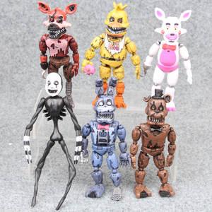 Model Dolls Fnaf-Toys Action-Figure Freddy's Bear Five-Nights Pvc At 6pcs/Set