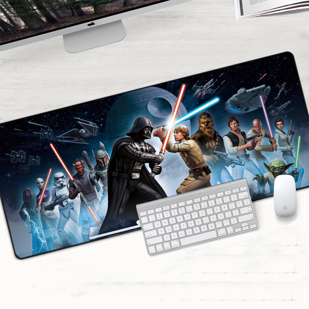 Star Wars Mouse Pad Anti-slip Mat Game Player Speed Gaming Mouse Pad Keyboard Pad Mats Notbook Computer Non-Skid Rubber Mousepad image