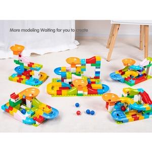 Image 4 - Marble Race Big Block Compatible Duploed Building Blocks Funnel Slide Blocks DIY Big Bricks Toys For Children Gift