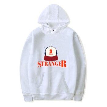 Trendy Faces New Season Stranger Things Hooded Women Pullover Sweatshirts Letter Print Long Sleeve Hip Hop Fashion  Hoody
