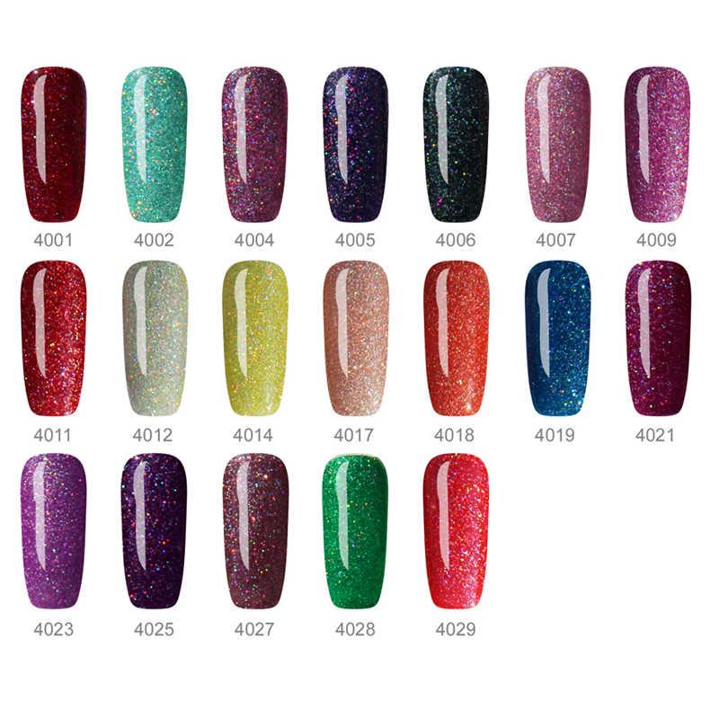 Vernis à ongles brillant émail vernis à ongles vernis à ongles couleur UV néon paillettes arc-en-ciel vernis à ongles 8ML semi-permanent