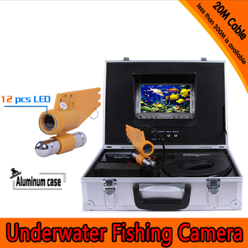 Underwater surveillance camera system 7 inch monitor 20 to 100m cable DVR recorder waterproof night version camera