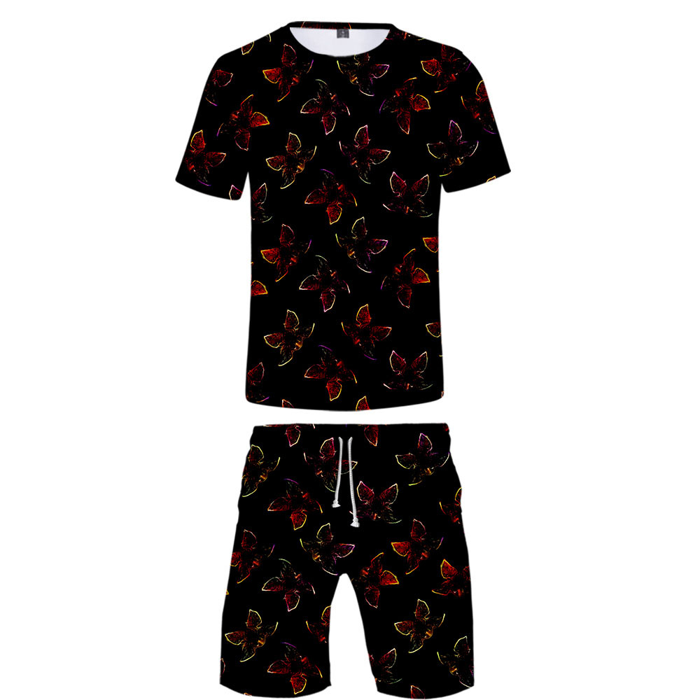 Hot Sales Stranger Things 3 Non-Logo Digital Printing 3D Short T-shirt Short Pants Suit