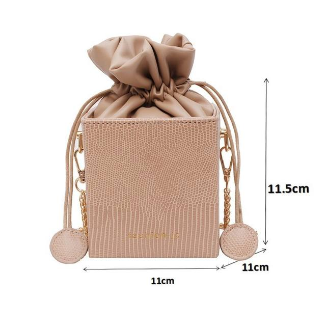 Gykaeo Fashion Drawstring Bucket Women Purses Bags