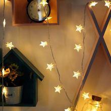 LED Lantern Christmas Festival Decoration Light Star Window String Free Shipping