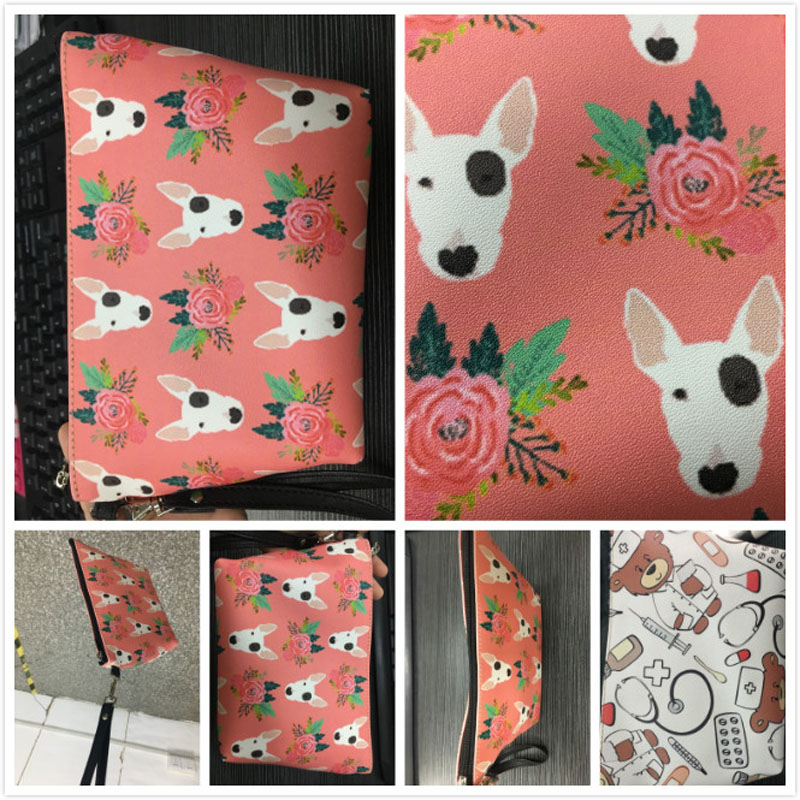 Leather Makeup Bag Travel Cosmetic Case& Bag Women Make Up Box Organizer Wash Pouch Cute Irish Setter Dog Print Pu Toiletry