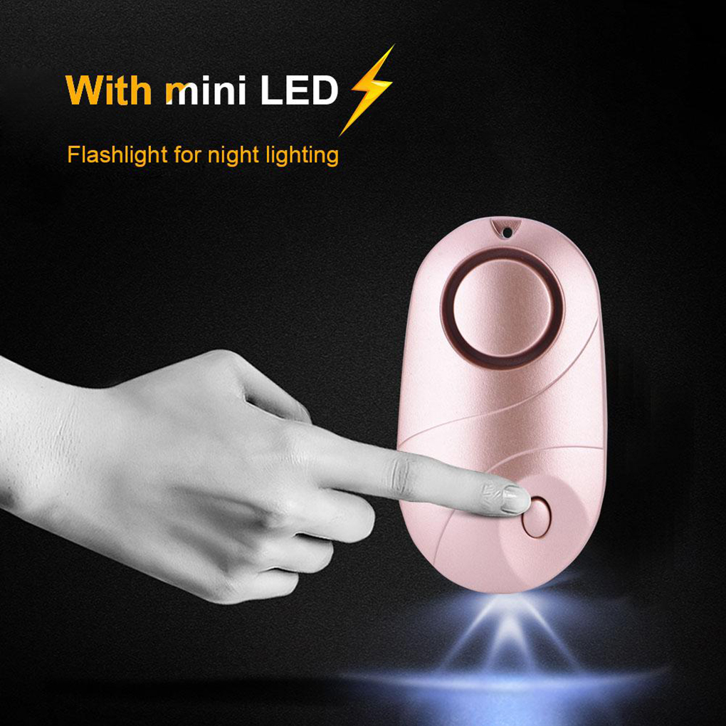 Women Elderly Kids Loud Security Alarm Portable Emergency Alert Keychain LED Light 130dB Volume