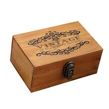 Wooden Keepsake Box Decorative Wooden Crafts Box with Lock a