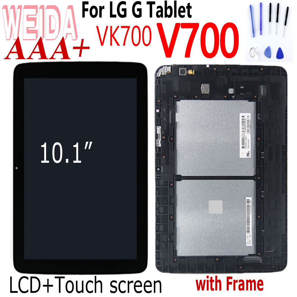 WEIDA LCD For LG G Pad 10.1 V700 VK700 Tablet PC LCD Display Replace Parts Digitizer Touch Screen Glass Assembly For LG V700 LCD
