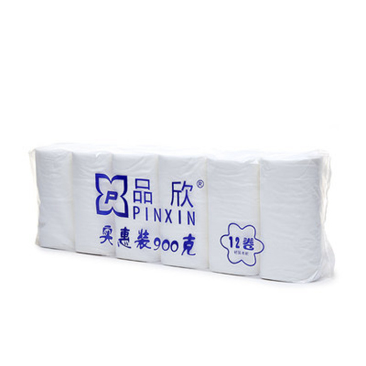 Pin Xin 900G White Roll Paper Wholesale Bulk Packages Coreless Web Maternal And Infant Toilet Paper 12 Roll Of Toilet Paper Fami