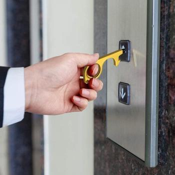 Hygiene Hand Metal EDC Door Opener Multifunctional keychain Hand Tool open door tools avoid touch hot sale