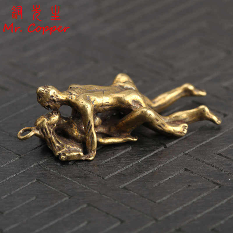 Copper Make Love Postures Miniatures Figurines Vintage Sexy Living Home Decoration Accessories Desktop Decor Ornament Funny Gift