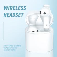 True Bluetooth 5 0 słuchawki KUGE TWS bezprzewodowe słuchawki Sport zestaw głośnomówiący z słuchawkami 3D zestaw słuchawkowy Stereo do gier z mikrofonem tanie tanio Ucho Inne CN (pochodzenie) Bezprzewodowy + Przewodowe Do Internetu Bar Monitor Słuchawkowe Do Gier Wideo Wspólna Słuchawkowe