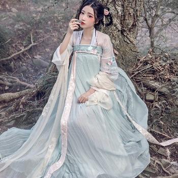 Hanfu women chinese dress china ancient Fairy Princess costume traditional hanfu female dress & girl tang suit costume hanbok tang chinese ancient traditional hanfu women fusion modern dynasty consum costume dress