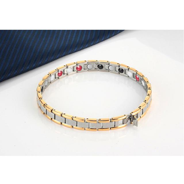 OKtrendy Women Stainless Steel Magnetic Power Bracelet Rose Gold Bio Energy Health Magnet Stone Bracelets For Girlfriend