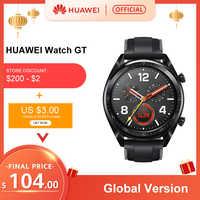 W magazynie wersja globalna zegarek huawei GT inteligentny WatchGT 5ATM wodoodporna 14 dni pracy na baterii tętna Tracker dla android ios