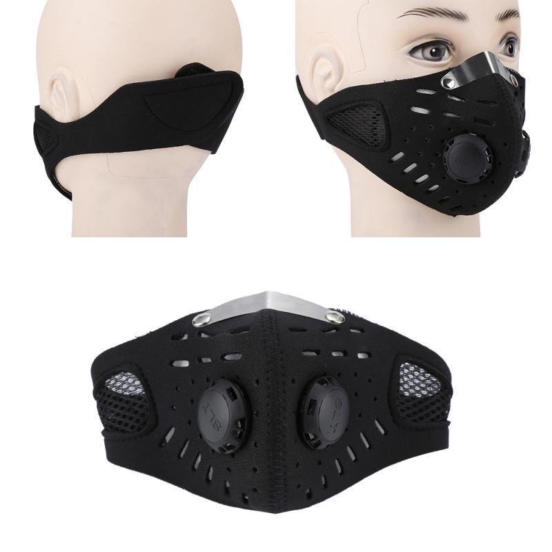 Cycling Face Mask Activated Carbon Dustproof Windproof Anti-fog Mask Winter Warmer Cycling Half Face Mask PM2.5 Mask Filter