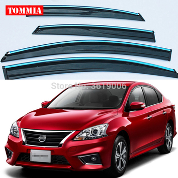 tommia Brand New For Nissan sylphy 2012-2015 Window Visor Shade Vent Wind Rain Deflector Guards Cover 4pcs/Set