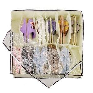 Image 4 - Hot Sale Home Accessories 12 Grid Transparent Dustproof Shoe Organizer PVC Shoe Storage Box Space Saving