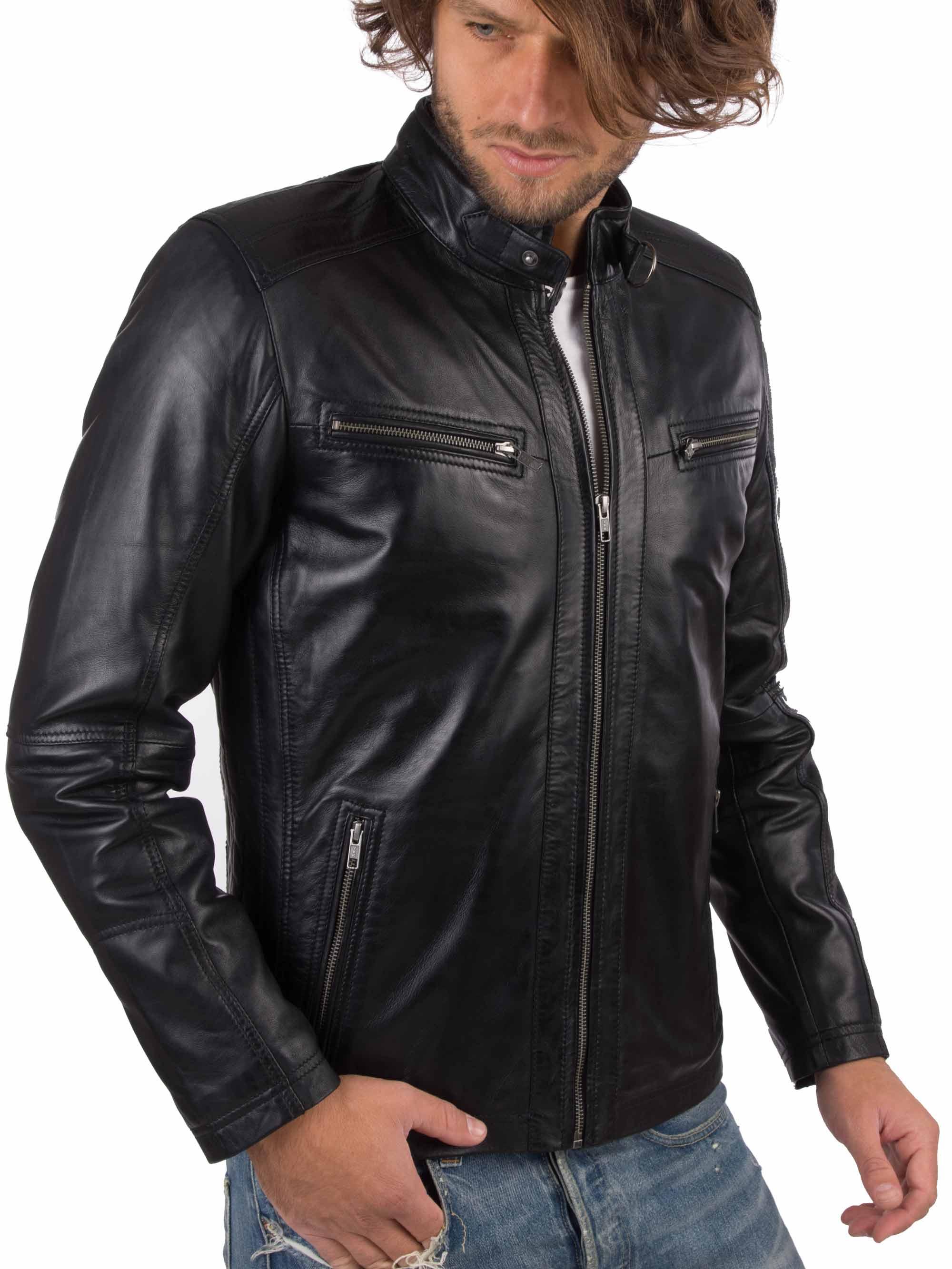 Hbefd9f33eabb43c399358ddf1d83a7bbg VAINAS European Brand Mens Genuine Leather jacket for men Winter Real sheep leather jacket Motorcycle jackets Biker jackets Alfa