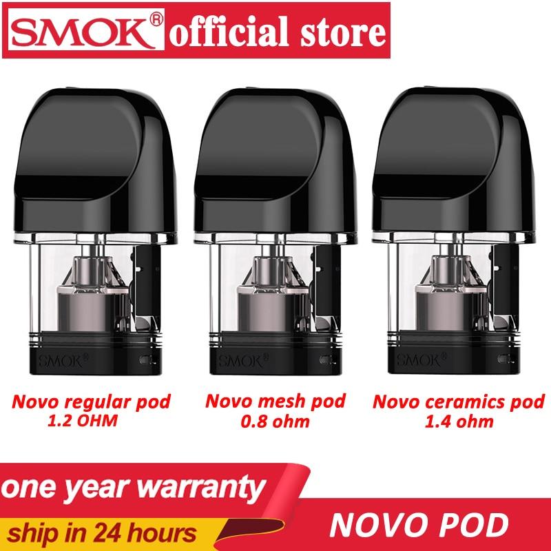 Smok novo 2 pod regular malha cerâmica dc mtl pod 2ml capacidade eletrônico cigarro atomizador tanque vape apto para novo kit vs infinix pod