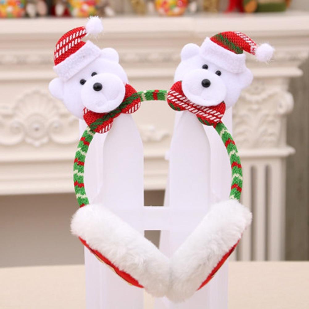 Christmas Earmuffs Headband Ear Warmers For Kids Adults Cute Soft Gift Decor New Design