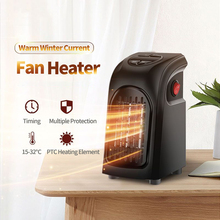 110v Electric Heater for Home American Plug Mini Air Wall Handy Heater Heating Warmer Ceramic Fan Keep Warm for Camping Carry